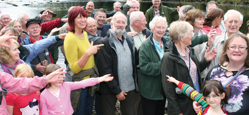 Janet Street-Porter gives support to Burley Bridge Campaign - Photography by Jane Cameron of Look Lively Media